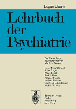 Lehrbuch der Psychiatrie von Bleuler,  Eugen, Bleuler,  M.