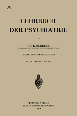 Lehrbuch der Psychiatrie von Bleuler,  Eugen