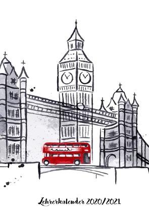 Lehrerkalender 2020 2021 mit London/Big Ben Cover von Grafik,  Musterstück