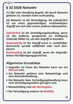 Lehrtafel § 32 StGB Notwehr von Hahn,  Marco, Hohl,  Helmut