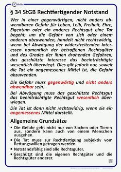 Lehrtafel § 34 StGB rechtfertigender Notstand von Hohl,  Helmut