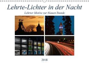 Lehrte – Lichter in der Nacht (Wandkalender 2018 DIN A3 quer) von SchnelleWelten