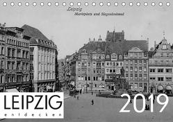 Leipzig entdecken 2019 (Tischkalender 2019 DIN A5 quer) von Verlag,  lerchenhain