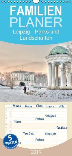 Leipzig – Parks und Landschaften – Familienplaner hoch (Wandkalender 2019 <strong>21 cm x 45 cm</strong> hoch) von Lueftner,  Juergen
