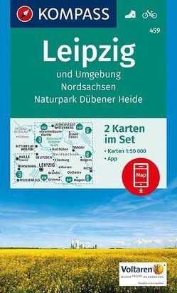 Leipzig und Umgebung, Nordsachsen, Naturpark Dübener Heide von KOMPASS-Karten GmbH