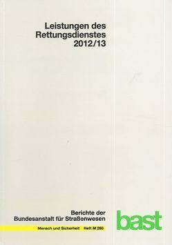 Leistungen des Rettungsdienstes 2012/2013 von Behrendt,  Holger, Schmiedel,  Reinhard