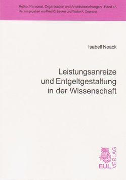 Leistungsanreize und Entgeltgestaltung in der Wissenschaft von Noack,  Isabell