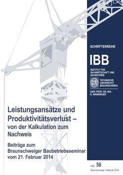 Leistungsansätze und Produktivitätsverlust – von der Kalkulation zum Nachweis von Wanninger,  Rainer