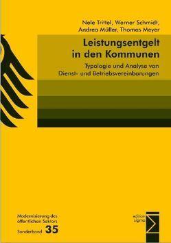 Leistungsentgelt in den Kommunen von Meyer,  Thomas, Müller,  Andrea, Schmidt,  Werner, Trittel,  Nele