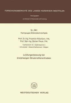 Leistungsmessung bei dreiphasigen Stromrichterantrieben von Holzmann,  Friedrich