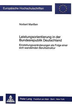 Leistungsorientierung in der Bundesrepublik Deutschland von Marissen,  Norbert