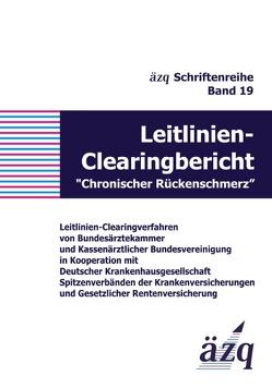 """Leitlinien-Clearingbericht """"Chronischer Rückenschmerz"""" von ÄZQ"""