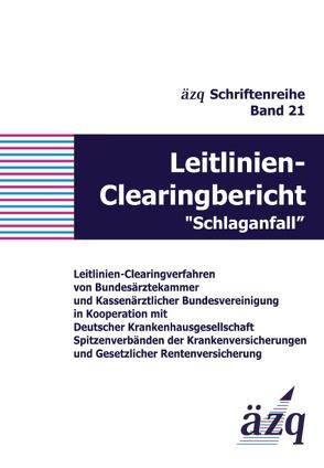"""Leitlinien-Clearingbericht """"Schlaganfall"""" von ÄZQ"""