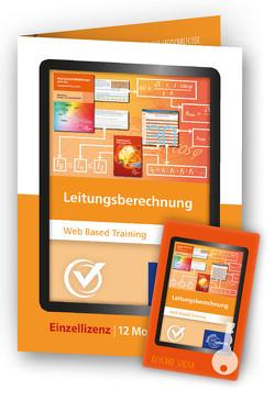 Leitungsberechnung – Web Based Training – Freischaltcode auf Keycard von Nies,  Andreas
