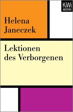 Lektionen des Verborgenen von Janeczek,  Helena, Kahn,  Moshe
