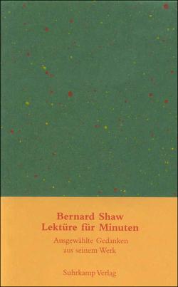 Lektüre für Minuten von Michels-Wenz,  Ursula, Shaw,  George Bernard