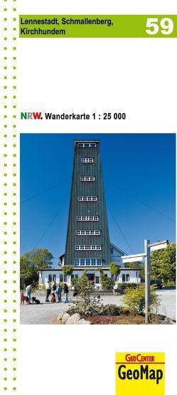 Lennestadt, Schmallenberg, Kirchhundem Blatt 59, topographische Wanderkarte NRW