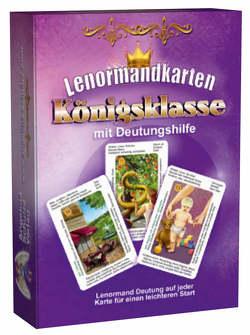 Lenormandkarten Königsklasse mit Deutungshilfe von Schulze,  Angelina