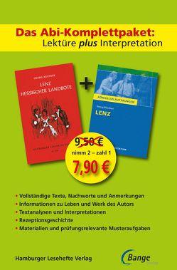 Lenz – Abi-Komplettpaket: Lektüre plus Interpretation: Königs Erläuterung mit kostenlosem Hamburger Leseheft von Georg Büchner. von Büchner,  Georg