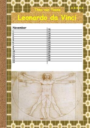 Leonardo da Vinci – Kalender von von Taane,  Theo