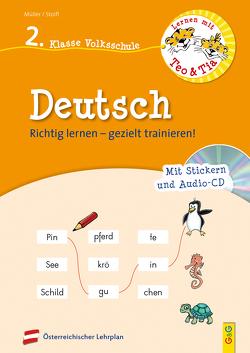 Lernen mit Teo und Tia Deutsch – 2. Klasse Volksschule mit CD von Mueller,  Verena, Seelmann,  Cornelia, Stoifl,  Erika