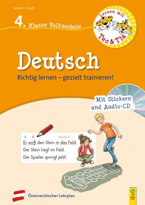 Lernen mit Teo und Tia Deutsch – 4. Klasse Volksschule mit CD von Mueller,  Verena, Seelmann,  Cornelia, Stoifl,  Erika