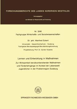 Lernen und Entwicklung in Maßnahmen von Eckert,  Manfred