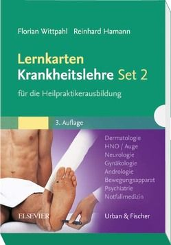 Lernkarten Krankheitslehre Set 2 für die Heilpraktikerausbildung von Hamann,  Reinhard, Wittpahl,  Florian