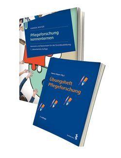 Lernpaket Lehrbuch Pflegeforschung kennenlernen + Übungsheft von Mayer,  Hanna