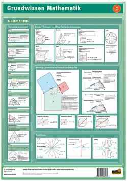 Lernposter Grundwissen Mathematik: Geometrie von Radler,  Werner