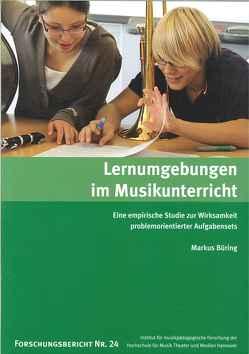 Lernumgebungen im Musikunterricht von Büring,  Markus, Riemer,  Franz