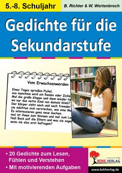Lernwerkstatt Gedichte für die Sekundarstufe von Richter,  Birgit, Wertenbroch,  Wolfgang