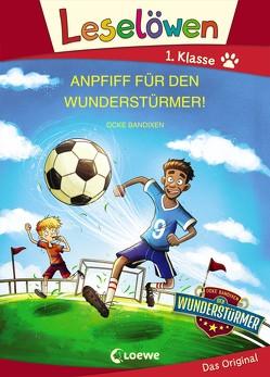 Leselöwen 1. Klasse – Anpfiff für den Wunderstürmer! von Bandixen,  Ocke, Lipkowski,  Ron, Reinki,  Kaja