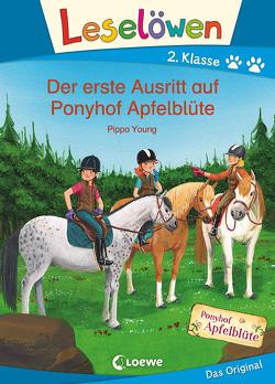 Leselöwen 2. Klasse – Der erste Ausritt auf Ponyhof Apfelblüte von Althaus,  Lisa, Margineanu,  Sandra, Young,  Pippa