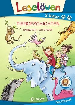 Leselöwen 2. Klasse – Tiergeschichten von Bruder,  Elli, Zett,  Sabine