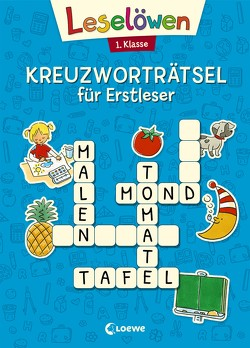 Leselöwen Kreuzworträtsel für Erstleser. 1. Klasse (Blau) von Labuch,  Kristin