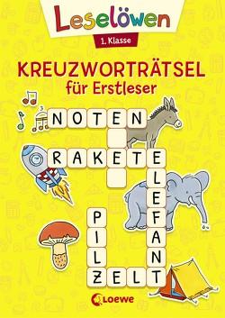Leselöwen Kreuzworträtsel für Erstleser – 1. Klasse (Gelb) von Labuch,  Kristin