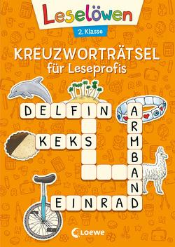 Leselöwen Kreuzworträtsel für Erstleser. 2. Klasse (Orange) von Merle,  Katrin