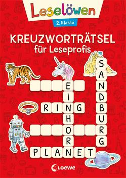 Leselöwen Kreuzworträtsel für Erstleser. 2. Klasse (Rot) von Merle,  Katrin
