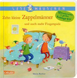 Lesemäuschen: Zehn kleine Zappelmänner und noch mehr Fingerspiele von Diverse, Rachner,  Marina