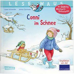 LESEMAUS 103: Conni im Schnee von Görrissen,  Janina, Rueda,  Marc, Schneider,  Liane