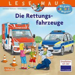 LESEMAUS 158: Die Rettungsfahrzeuge von Böwer,  Niklas, Tielmann,  Christian