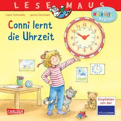 LESEMAUS 190: Conni lernt die Uhrzeit von Görrissen,  Janina, Schneider,  Liane