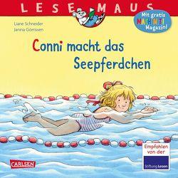 LESEMAUS 6: Conni macht das Seepferdchen (Neuausgabe) von Görrissen,  Janina, Schneider,  Liane