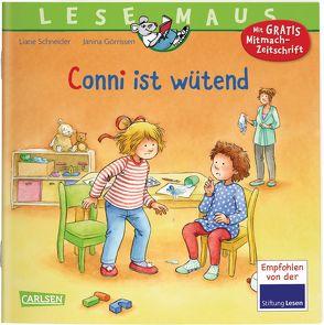 LESEMAUS 86: Conni ist wütend von Görrissen,  Janina, Rueda,  Marc, Schneider,  Liane