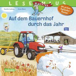LESEMAUS 90: Auf dem Bauernhof durch das Jahr von Ebert,  Anne, Ladwig,  Sandra