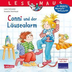 LESEMAUS 23: Conni und der Läusealarm von Schneider,  Liane, Steinhauer,  Annette