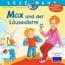LESEMAUS 35: Max und der Läusealarm von Kraushaar,  Sabine, Tielmann,  Christian