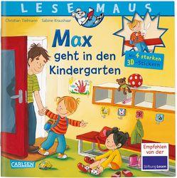 LESEMAUS: Sonderausgabe Max geht in den Kindergarten von Kraushaar,  Sabine, Tielmann,  Christian