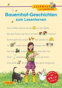 LESEMAUS zum Lesenlernen Sammelbände: Bauernhof-Geschichten zum Lesenlernen von Leberer,  Sigrid, Wiese,  Petra